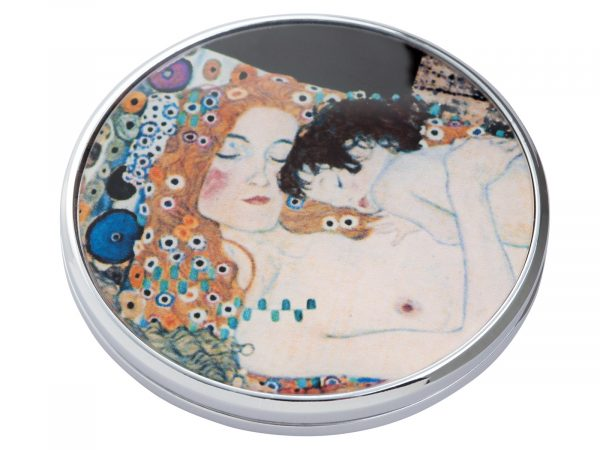 """This beautifully crafted pocket mirror by Parastone comes with a stunning extract from Gustav Klimt's painting of """"Three Ages of Women"""". Gustav Klimt was an Austrian symbolist painter and one of the most prominent members of the Vienna Secession movement. Size: Diameter: 7 cm - 3"""". By John Beswick. Product Code: M01KL(S)"""