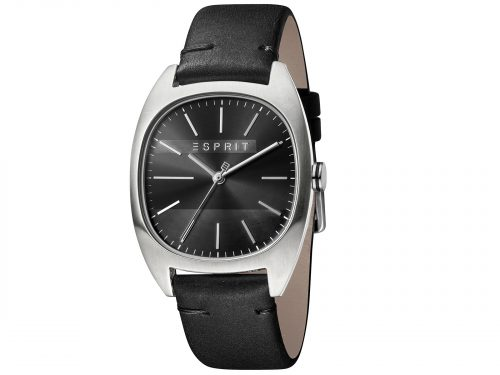 Mens Stainless steel 38mm Esprit Black calf leather Watch with a Black dial and VJ21 3 hands. Water Resistant to 3ATM. Size: 38mm. By Esprit. Product Code: ES1G038L0025.
