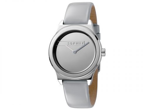 Womens 34mm Esprit Light grey patent leather Watch with a Light grey patent leather strap, Silver mirror dial and 2 hands. Water Resistant to 5ATM. Size: 34mm By Esprit Product Code: ES1L019L0025