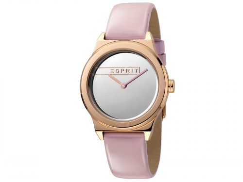 Womens 34mm Esprit Pink patent leather Watch with a Pink patent leather strap, Silver mirror dial and 2 hands. Water Resistant to 5ATM. Size: 34mm By Esprit Product Code: ES1L019L0045