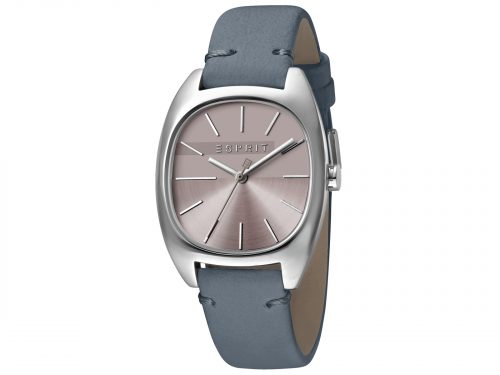 Womens Stainless steel 32mm Esprit Blue calf leather Watch with a Purple dial and VJ21 3 hands. Water Resistant to 3ATM. Size: 32mm. By Esprit. Product Code: ES1L038L0045.
