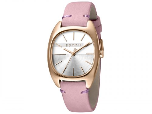 Womens Stainless steel, IP rosegold plated 32mm Esprit Pink calf leather Watch with a Silver dial and VJ21 3 hands. Water Resistant to 3ATM. Size: 32mm. By Esprit. Product Code: ES1L038L0065.
