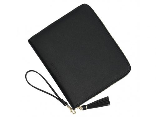 This beautifully made Stackers Black Clutch Bag is made from vegan leather and cotton, a stylish and elegant way to customise the way you store your items. Size: 24cm x 20.5cm x 2.5cm By Stackers Product Code: 75389