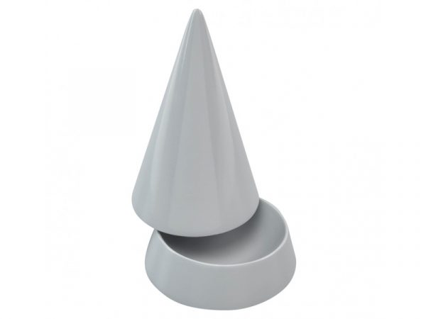 This beautifully made Stackers Grey Cone Jewellery Peak is the perfect way to store your rings and necklaces. Available in several colours, these are a must have for any dressing table. Size: 12.5cm x 7.5cm x 7.5cm By Stackers Product Code: 73714