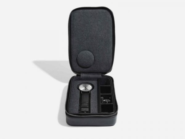 Stackers Black Travel Watch and Cufflink Box