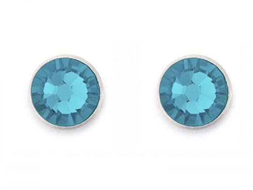Coeur De Lion Swarovski Crystal Turquoise Stud Earrings
