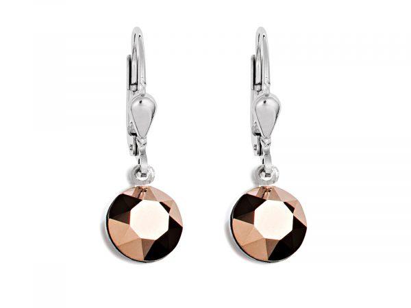 Coeur De Lion Swarovski Crystal Rose Gold Pierced Earrings