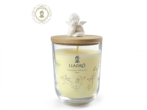 Lladro Candle with Angel Lid - I love you mom
