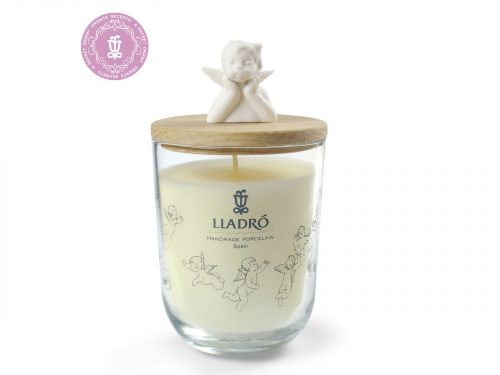 Lladro Scented Candle with Angel Topper