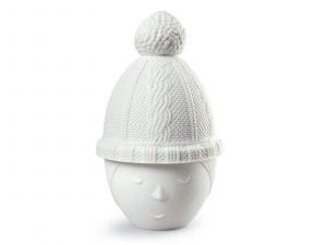 Women with Bobble Hat Candle