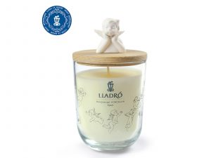 Lladro Candle with Angel Lid
