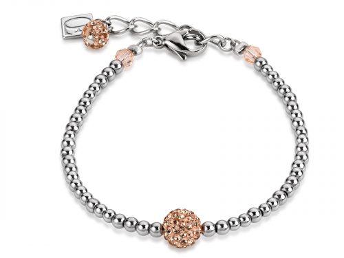 Coeur De Lion Peach Crystal and Haematite Bracelet