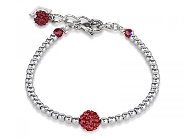 Coeur De Lion Dark Red Crystal and Haematite Bracelet