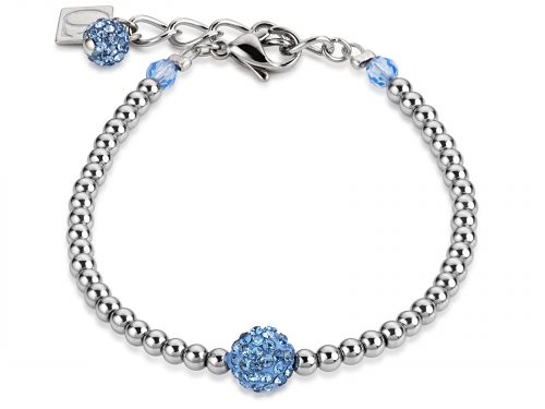 Coeur De Lion Light Blue Crystal and Haematite Bracelet
