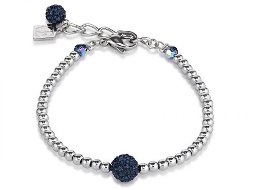 Coeur De Lion Dark Blue Crystal and Haematite Bracelet