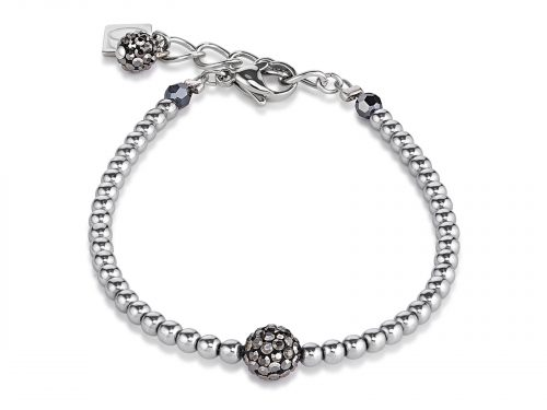 Coeur De Lion Grey Crystal and Haematite Bracelet