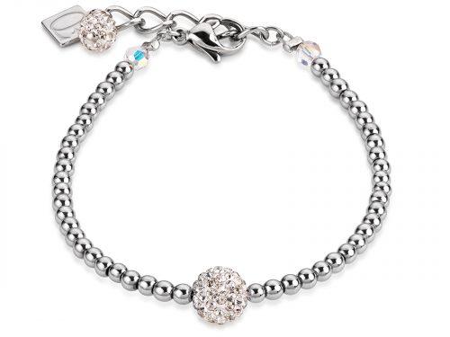 Coeur De Lion Silver Crystal and Haematite Bracelet