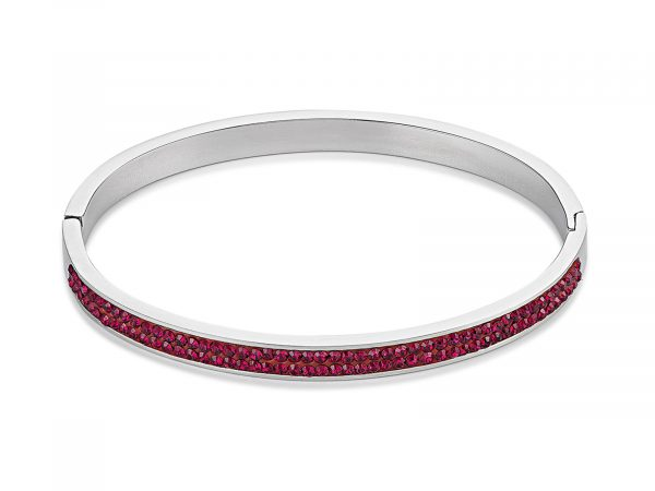 Coeur De Lion Pave Crystal Red Bangle