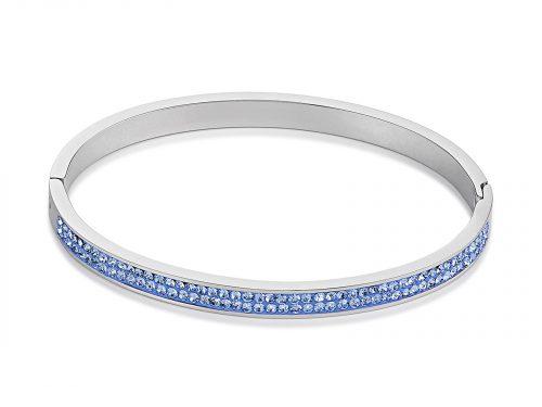 Coeur De Lion Pave Crystal Blue Bangle