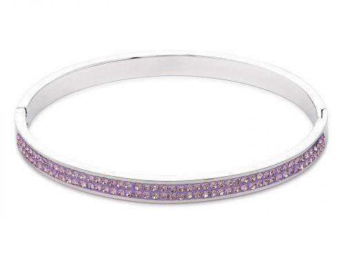 Coeur De Lion Pave Crystal Pink Bangle