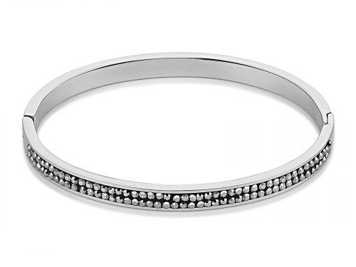 Coeur De Lion Pave Crystal Black Bangle