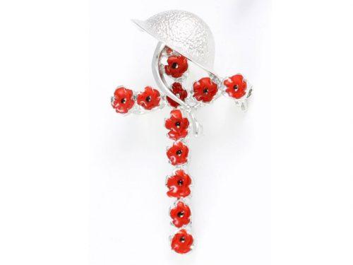 Angelys Helmet Poppy Brooch