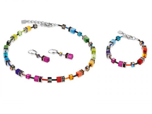 Coeur De Lion Geo Cube Rainbow Jewellery Set