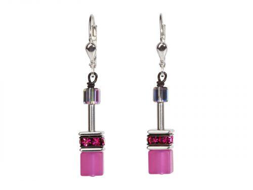 Coeur De Lion Geo Cube Rainbow Earrings