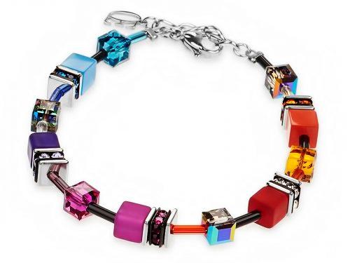Coeur De Lion Geo Cube Rainbow Bracelet