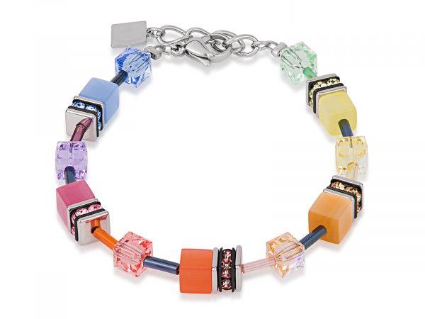 Coeur De Lion Geo Cube Soft Multicolour Bracelet