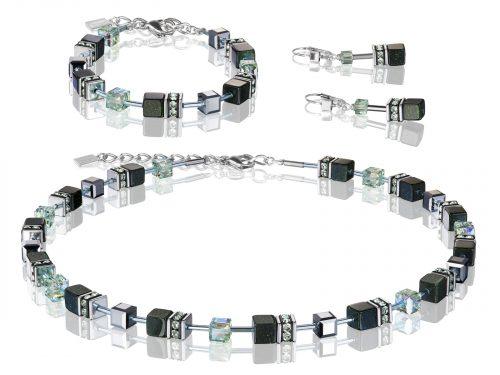 Coeur De Lion Geo Cube Black Swarovski Crystal Set