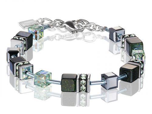 Coeur De Lion Geo Cube Black Swarovski Crystal Bracelet