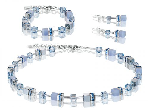 Coeur De Lion Geo Cube Light Blue Chalcedony Set