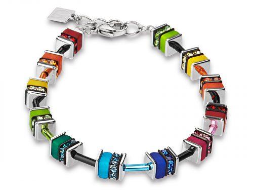 Coeur De Lion Geo Cube Multicolour Crystal Bracelet