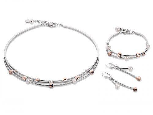 Coeur De Lion Silver and Rose Gold Jewellery Set