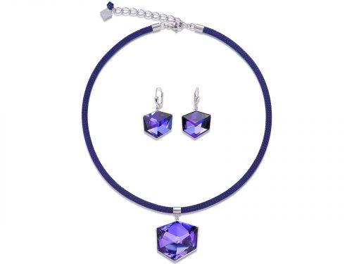 Coeur De Lion Purple Swarovski Crystal Set