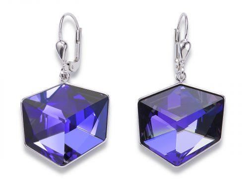 Coeur De Lion Purple Swarovski Crystal Earrings
