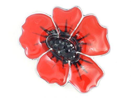 Angelys 30mm Poppy Brooch