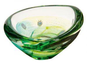U11047 Caithness Raindrop Emerald Dish