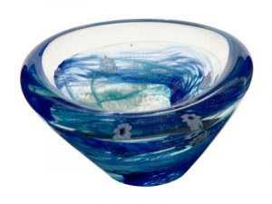 U11049 Caithness Raindrop Aqua Dish