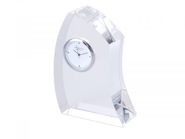 Dartington Crystal - Medium Crescent Clock GW2249