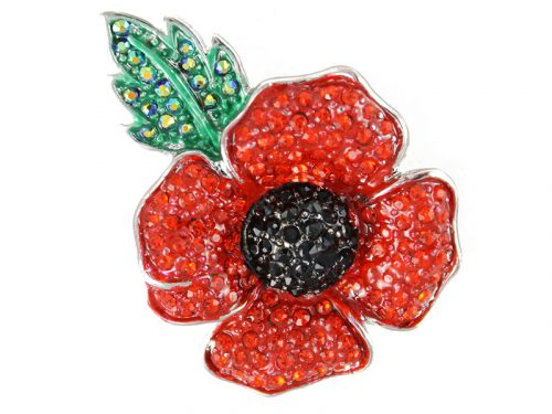 Angelys Large Four Petal Poppy Brooch