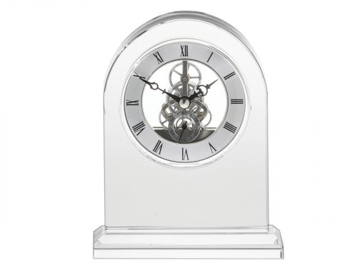 Royal Scot Crystal - Large Mantle Crystal Clock CLOLM
