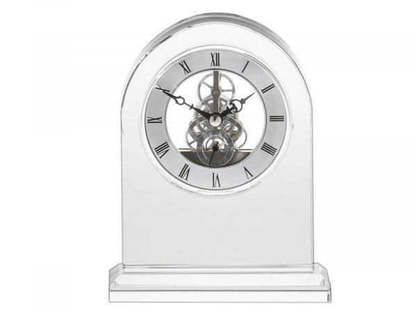 Royal Scot Crystal - Large Mantle Crystal Clock CLOLM