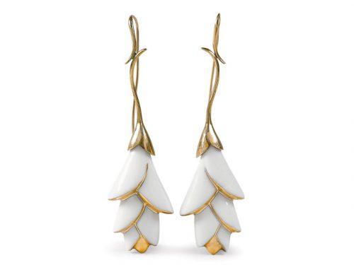 Lladro Heliconia Long Earrings