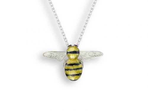 A stunning bee necklace by Nicole Barr made with stierling silver with intricate wing design.