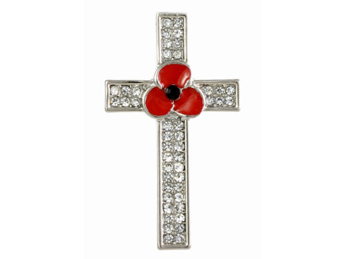 Angelys Poppy Brooch - Cross